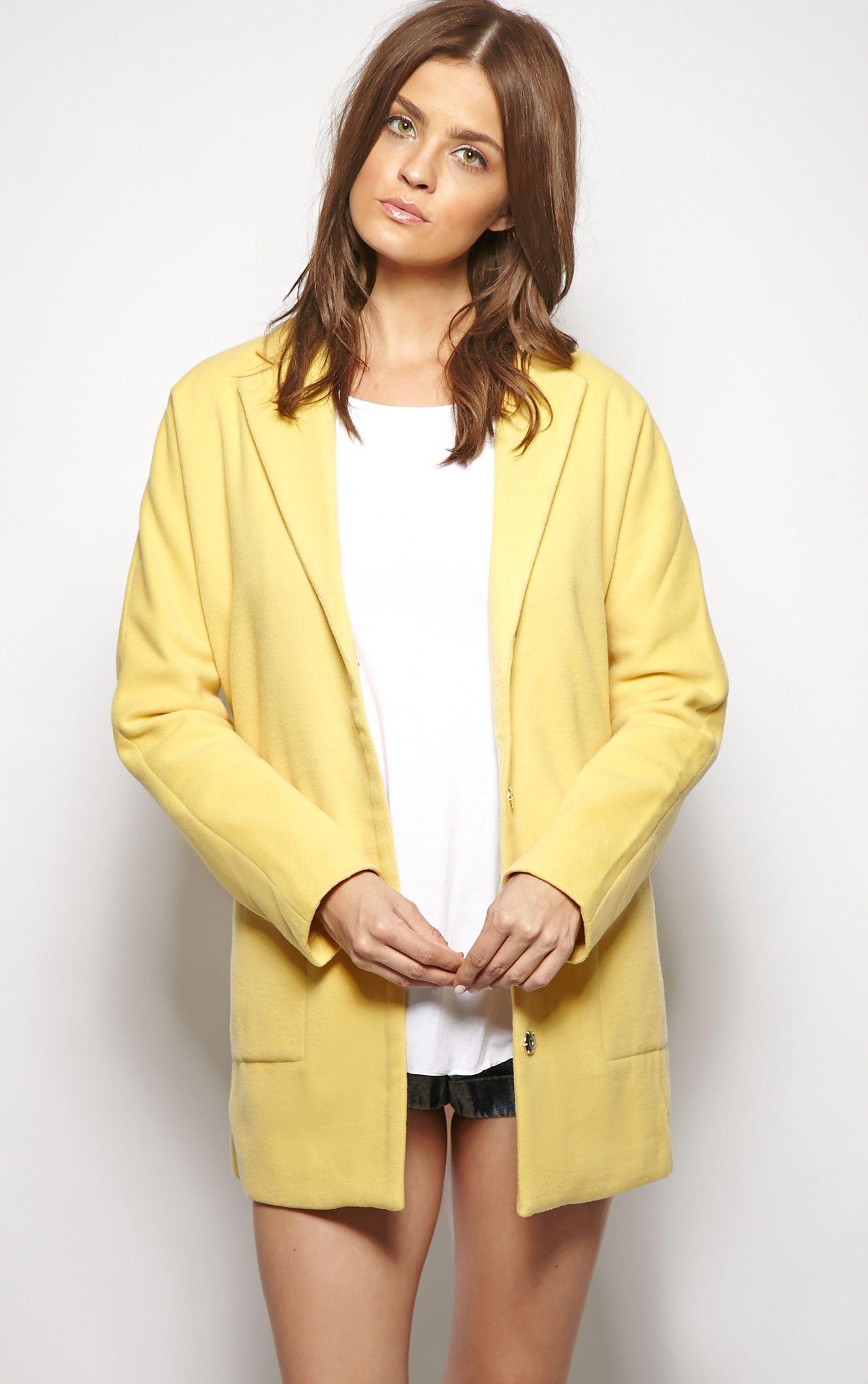 Hope Yellow Boyfriend Coat 1