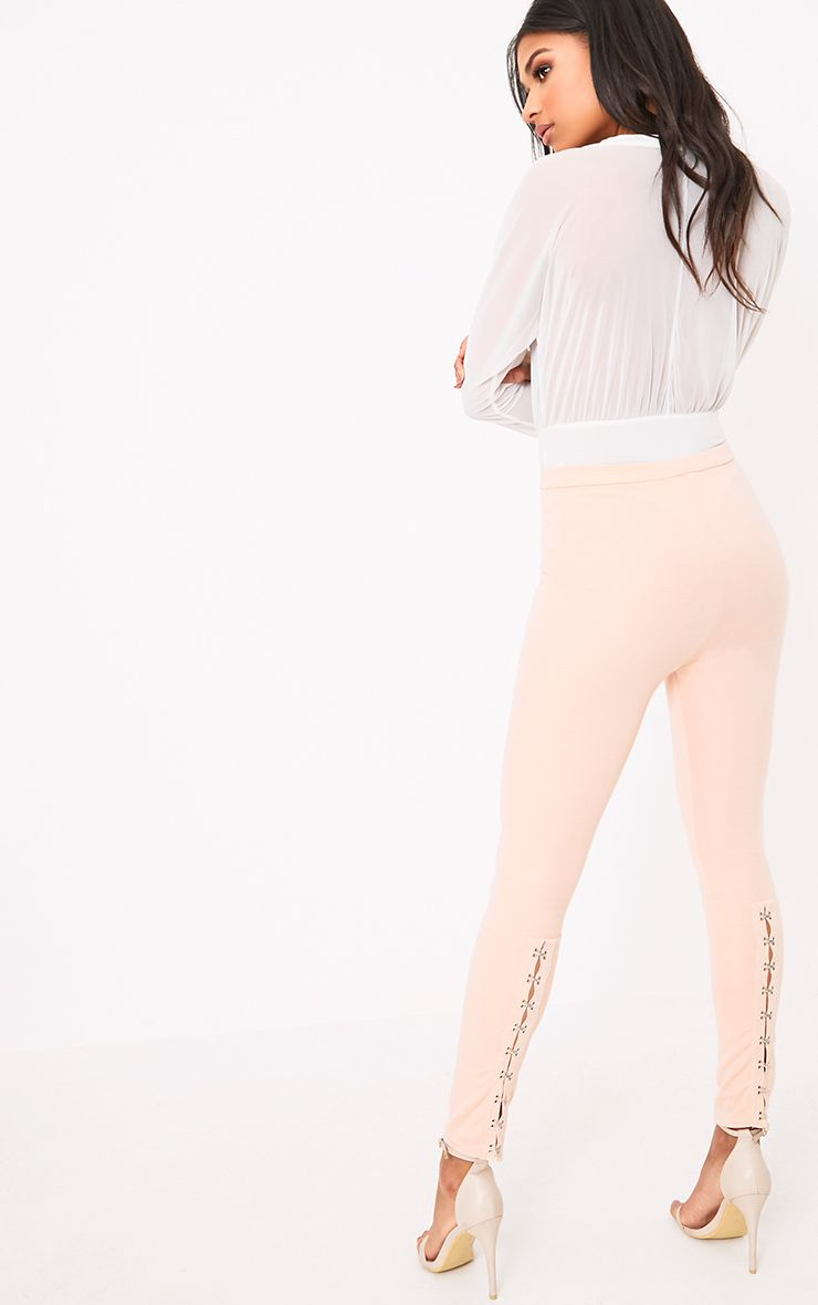 Carinda Blush Back Hook & Eye Skinny Trousers