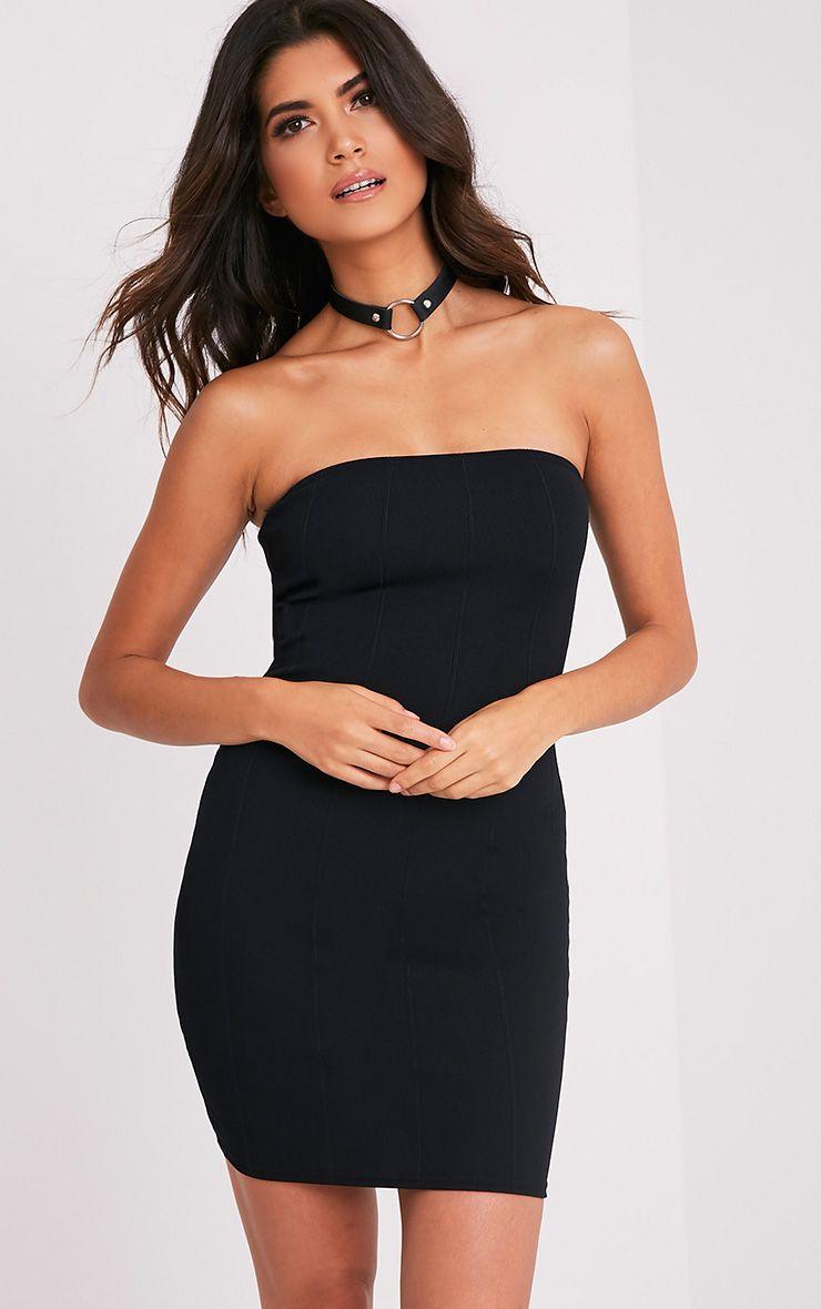Kissia Black Bandage Bandeau Dress