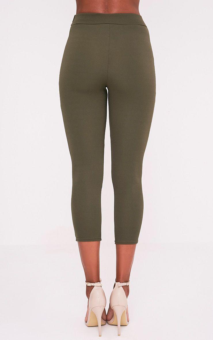 Danelle pantalon skinny crêpe kaki 5