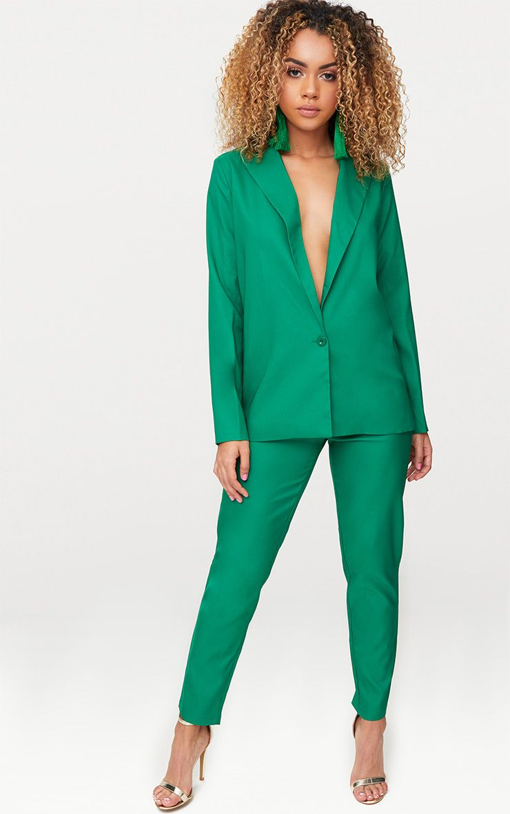 Bright Green Oversized Boyfriend Fit Blazer