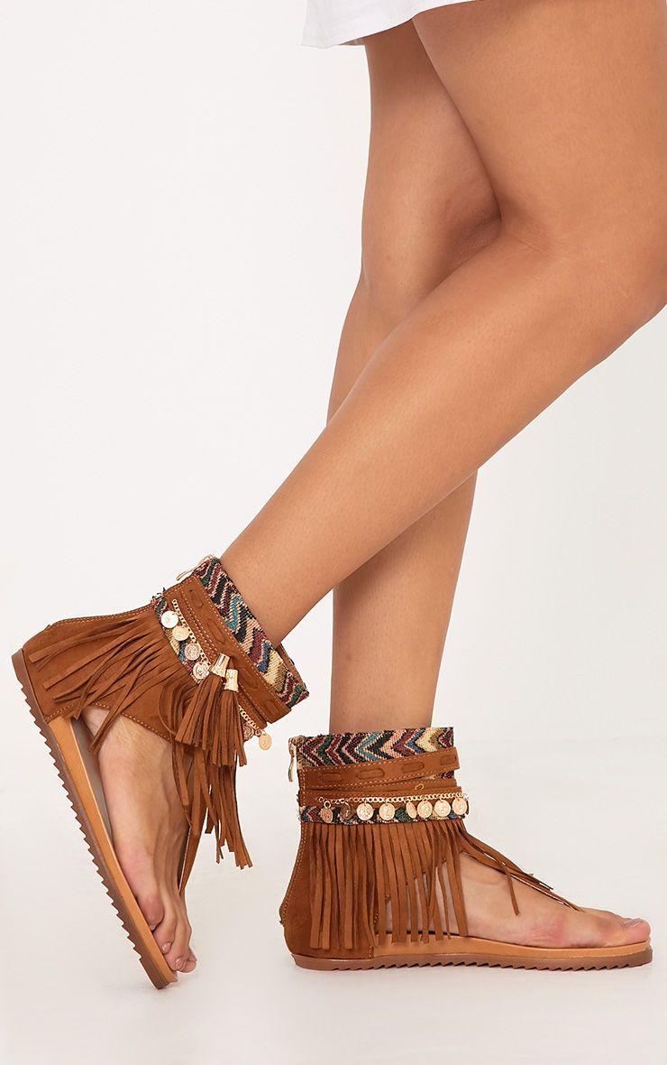 Ulrika sandales fauves à franges