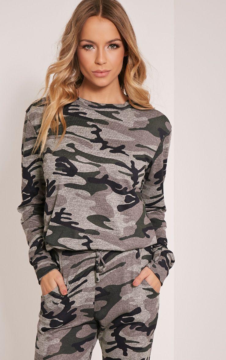 Grechin Green Camouflage Tracksuit Sweatshirt 1