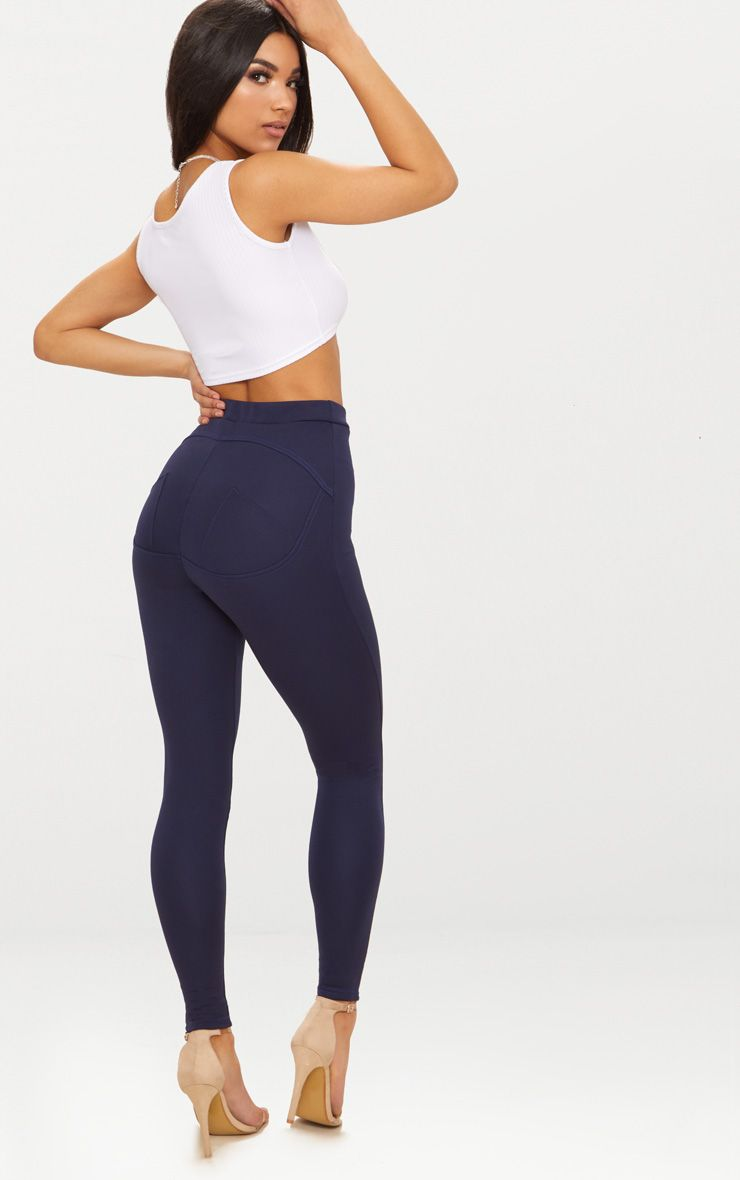 Navy Contour Seam Push Up Leggings