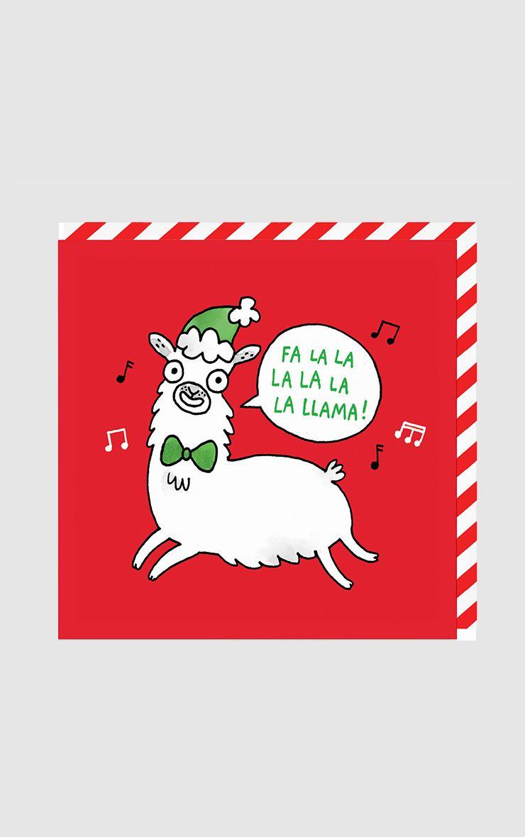 Ohh Deer Fa La La Llama Christmas Card