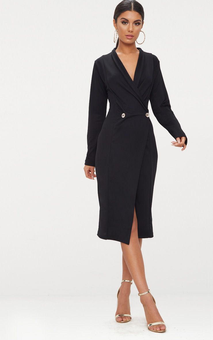 a21150c2db Parallel Lines Long Sleeve Wrap Dress