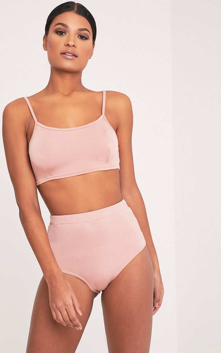 Basic Nude Bralet & Knicker Co-Ord 1
