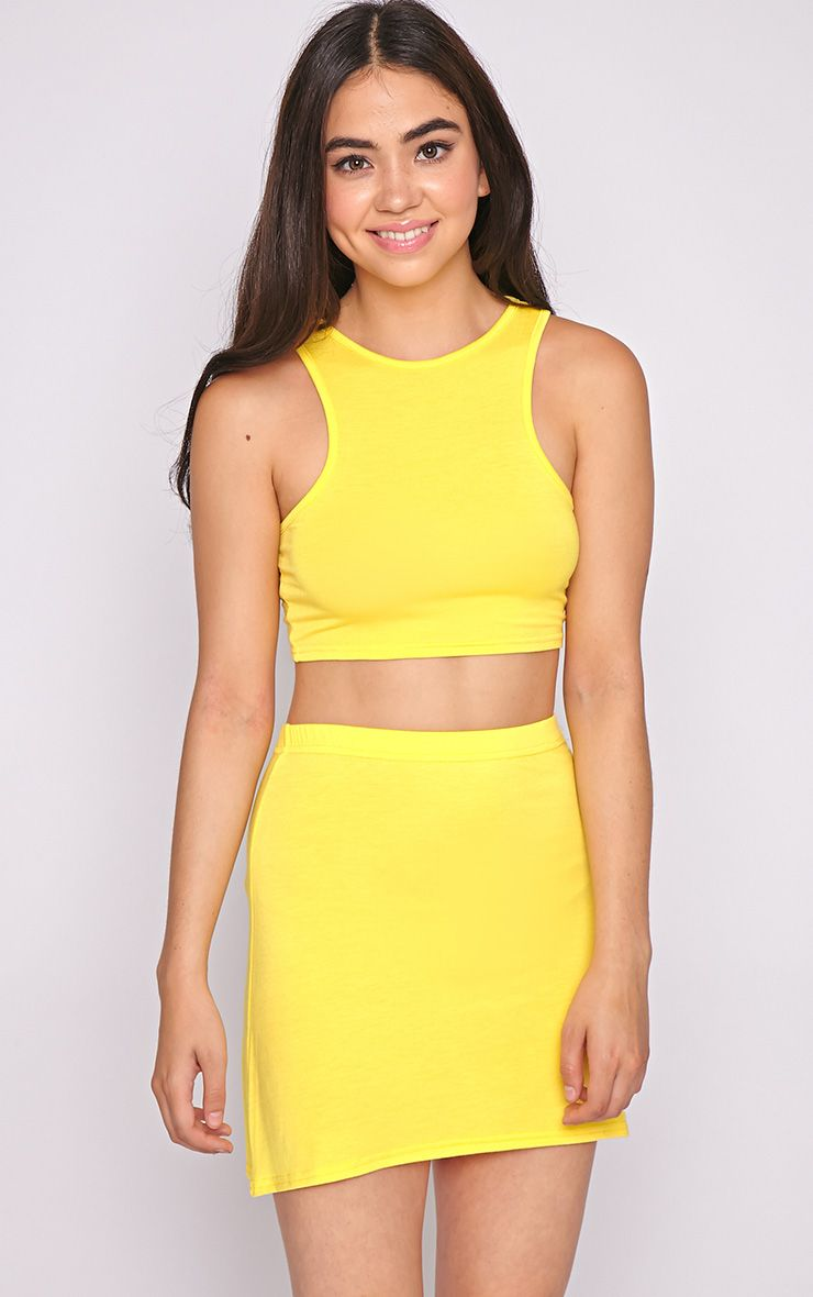 Madelyn Yellow Crop Top 1