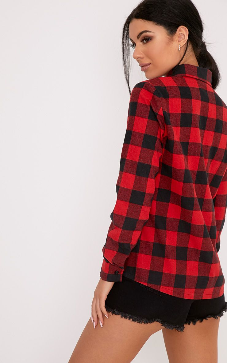 Layla Red Checked Shirt