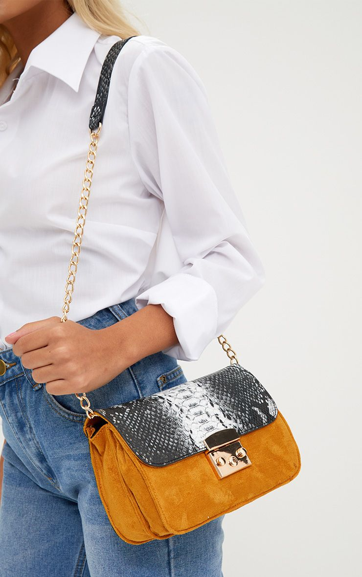 Mustard Snake Shoulder Bag
