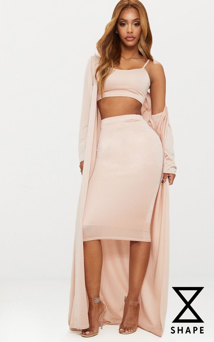 PRETTYLITTLETHING Shape Champagne Textured Duster Coat Sale Factory Outlet Sale Classic Best Store To Get Cheap Online BMr5f
