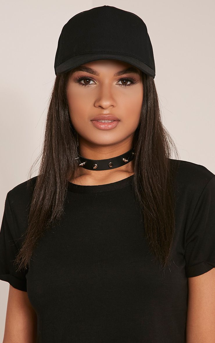Carlita Black Trucker Cap Black