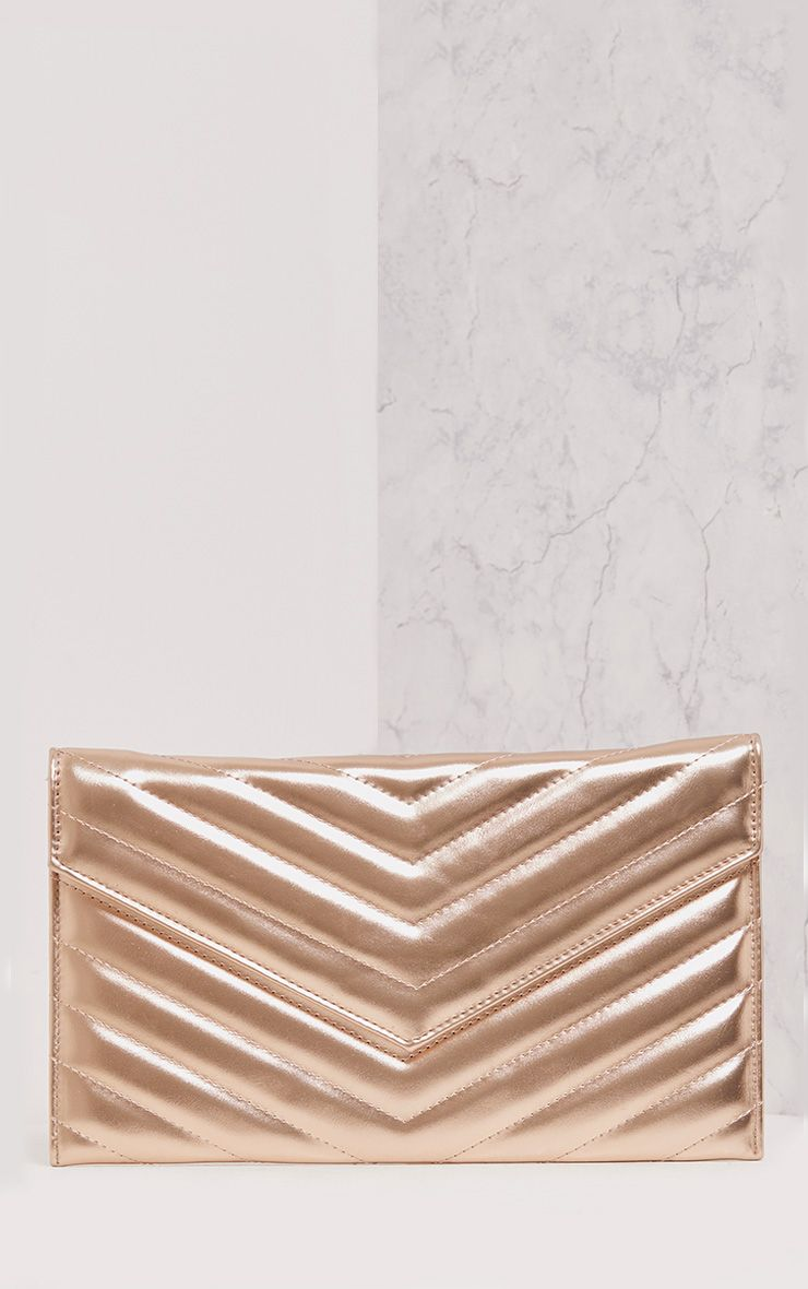 Ely Champagne Padded Mirror Clutch