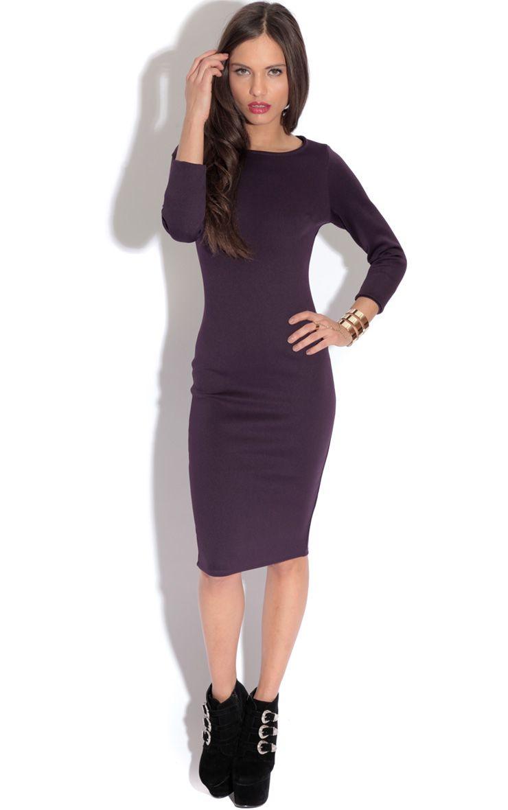 Macy Bergundy Bodycon Dress-18 1