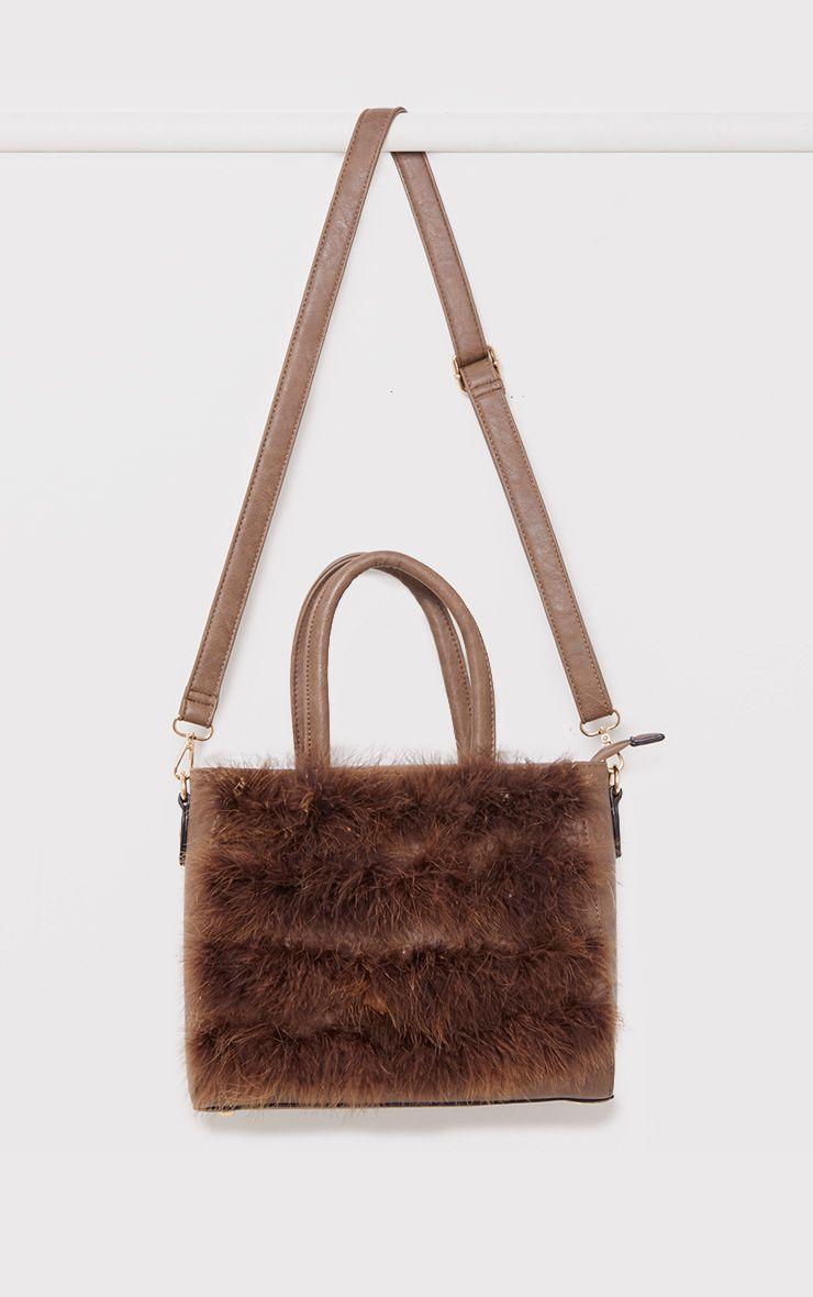 Melina Brown Maribu Feather Bag