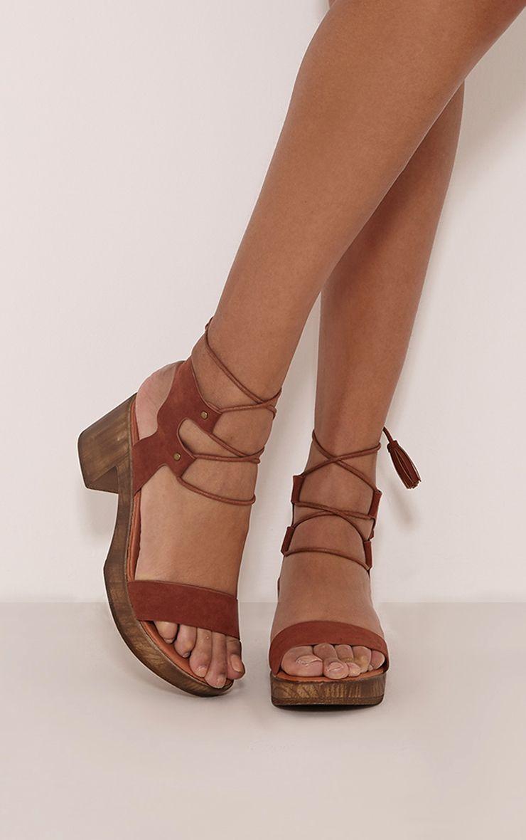 Nita Tan Tassel Tie Detail Sandals 1