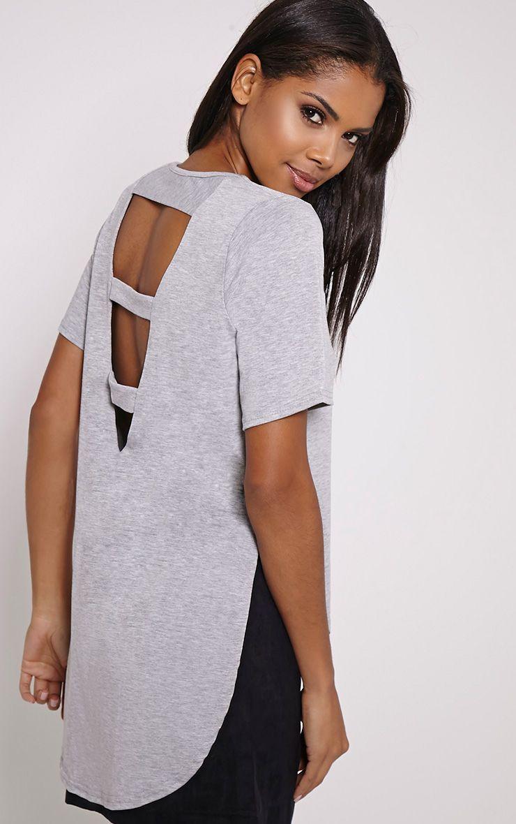Ashby Light Grey Strap Back Jersey T-Shirt 1