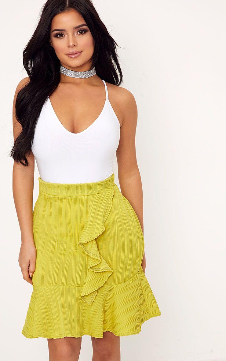 Shape Francina White Slinky Plunge Bodysuit