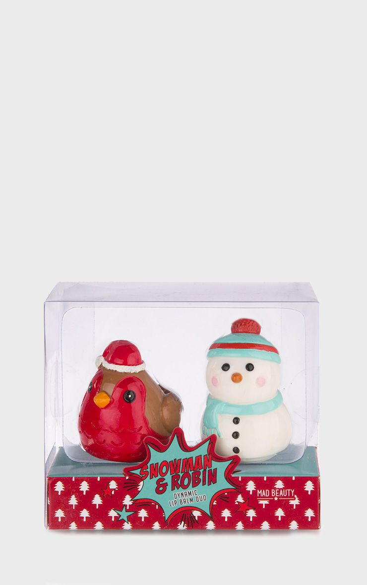 Snowman and Robin Christmas Lip Balm Duo