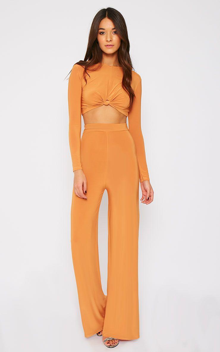 Zafia Mustard Palazzo Trousers 1