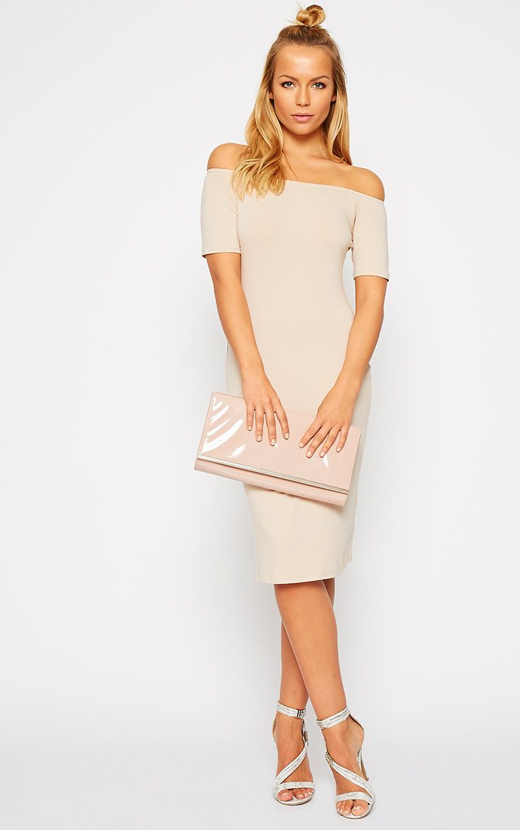 Caty Stone Jersey Bardot Midi Dress 1