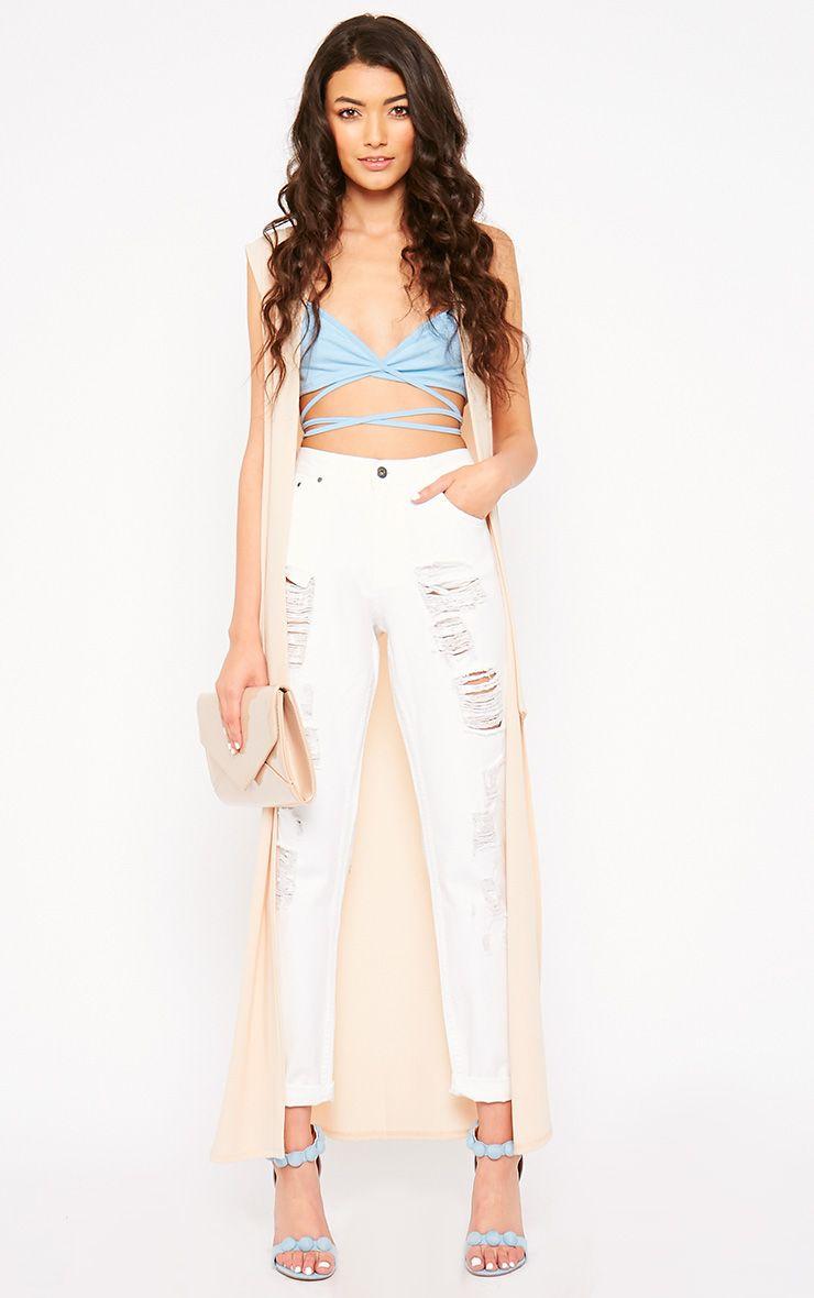 Kada White Extreme Rip Jeans 1