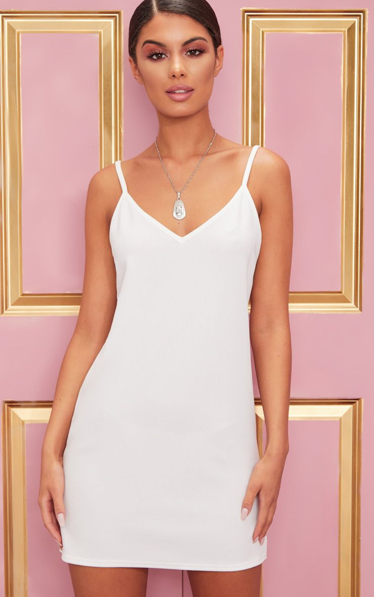 White Strappy Detail Backless Cami Dress 1