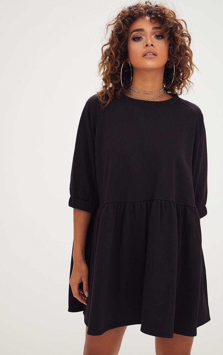 Black Smock Sweater Dress