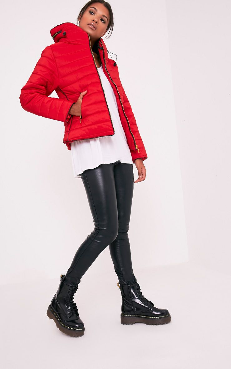 Mara Red Padded Jacket