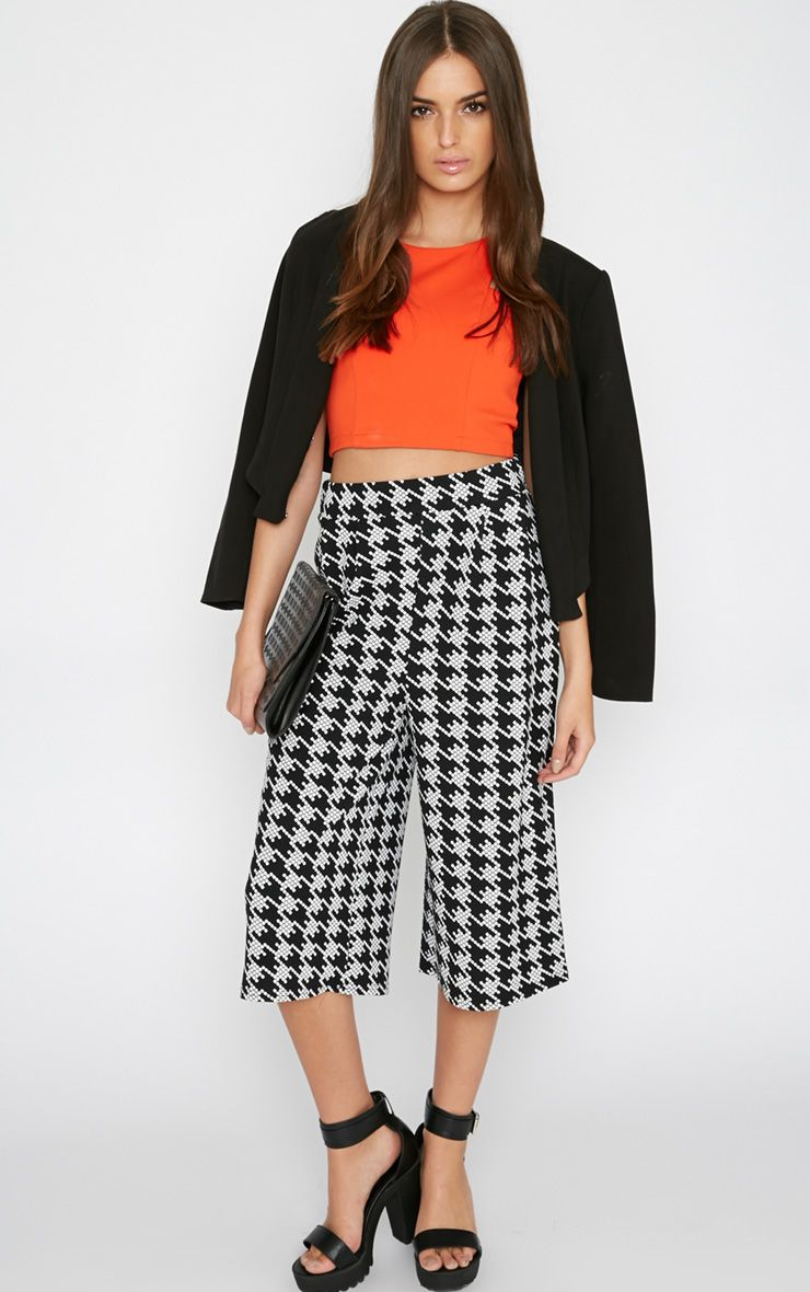 Madi Monochrome Dogtooth Culottes 1