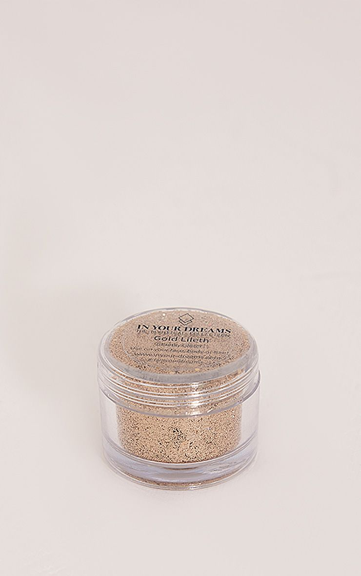 In Your Dreams Gold Lileth Glitter Pot Yellow
