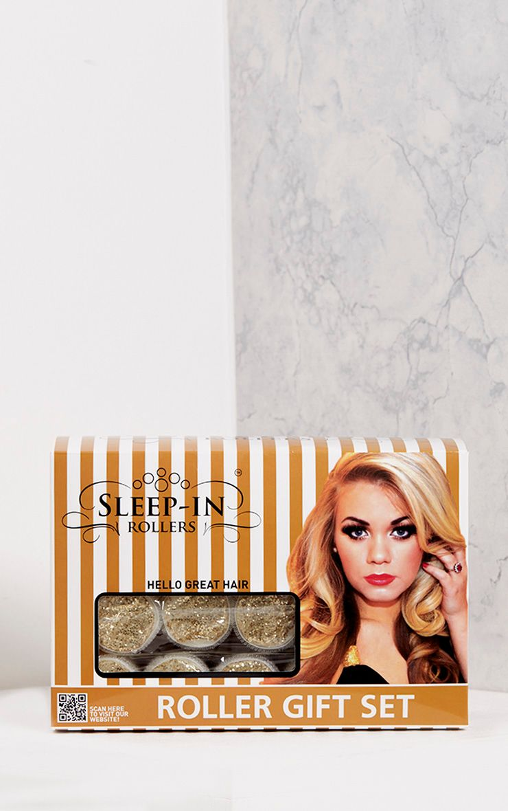 Sleep In Rollers Gold Glitter 20 Set Rollers