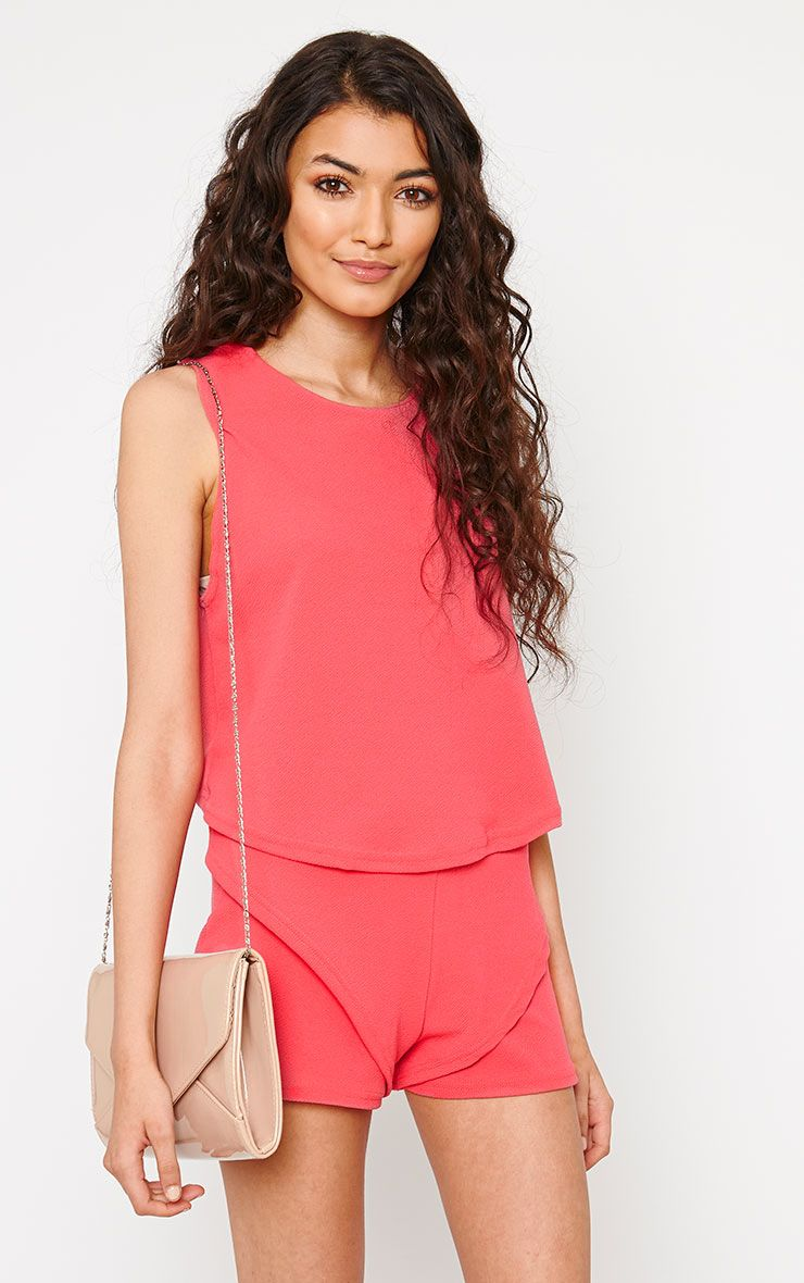 Devon Pink Wrap Back Top 1