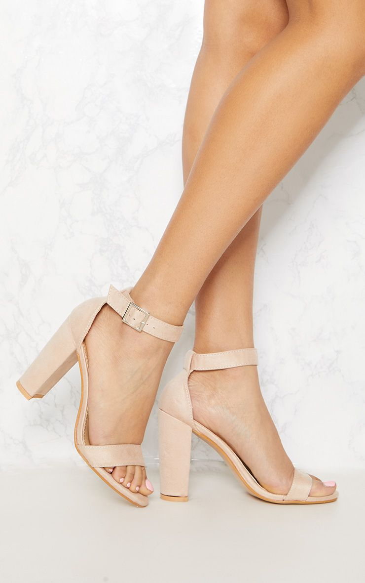 Dusty Pink Strappy Block Heel