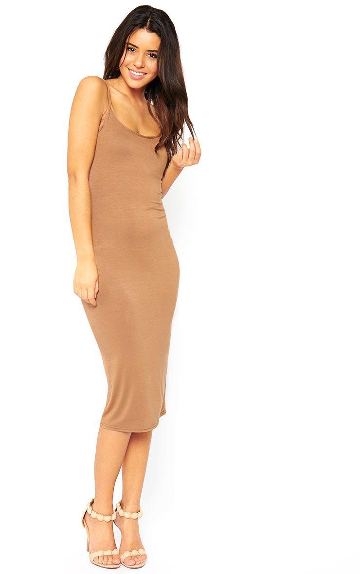 Basic Camel Midi Vest Dress 1