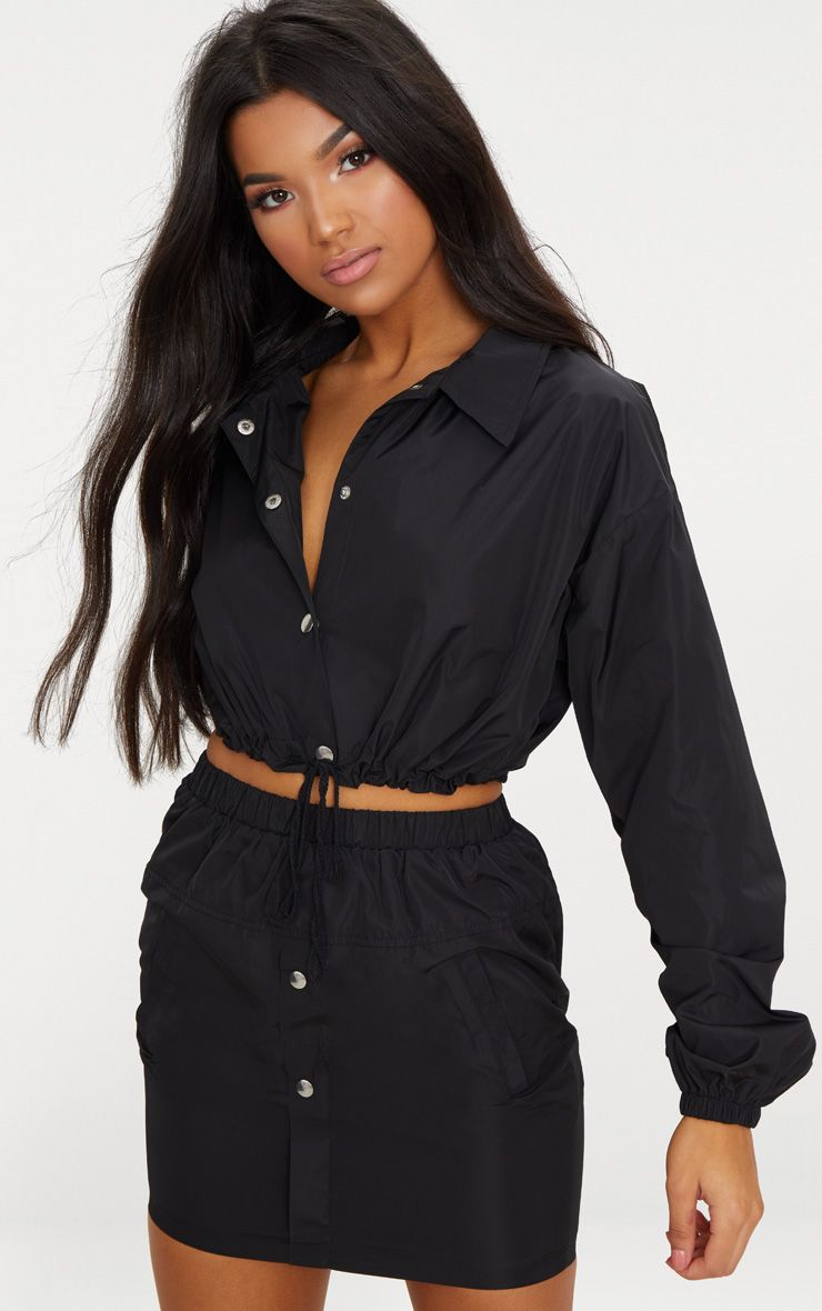 Black Shell Suit Jacket