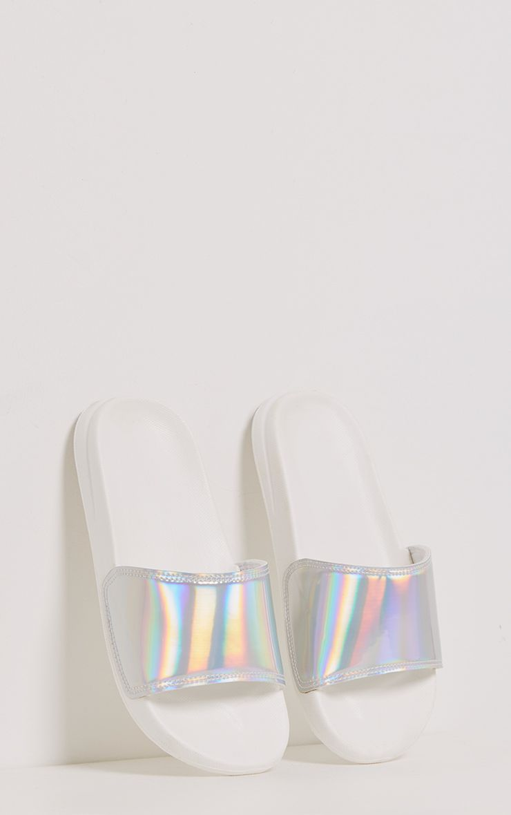 Selena Silver Iridescent Sliders