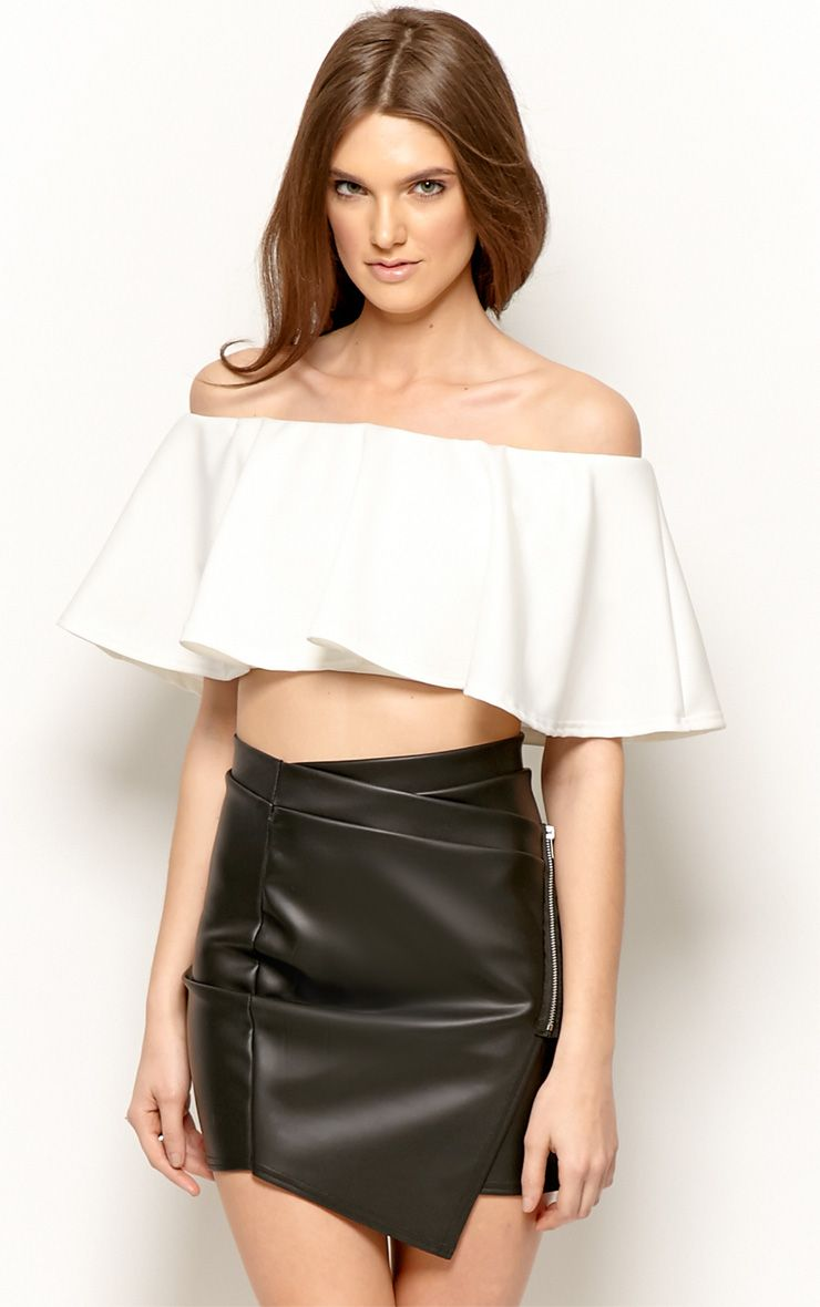 Allie White Frill Crop Top 1
