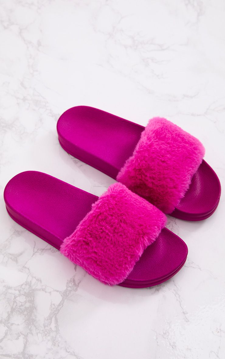 Hot Pink Fluffy Sliders