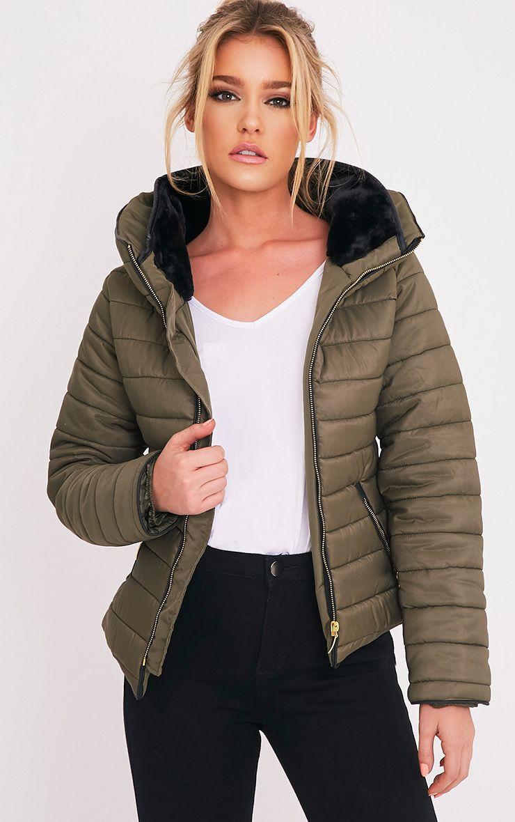 Mara Khaki Padded Jacket