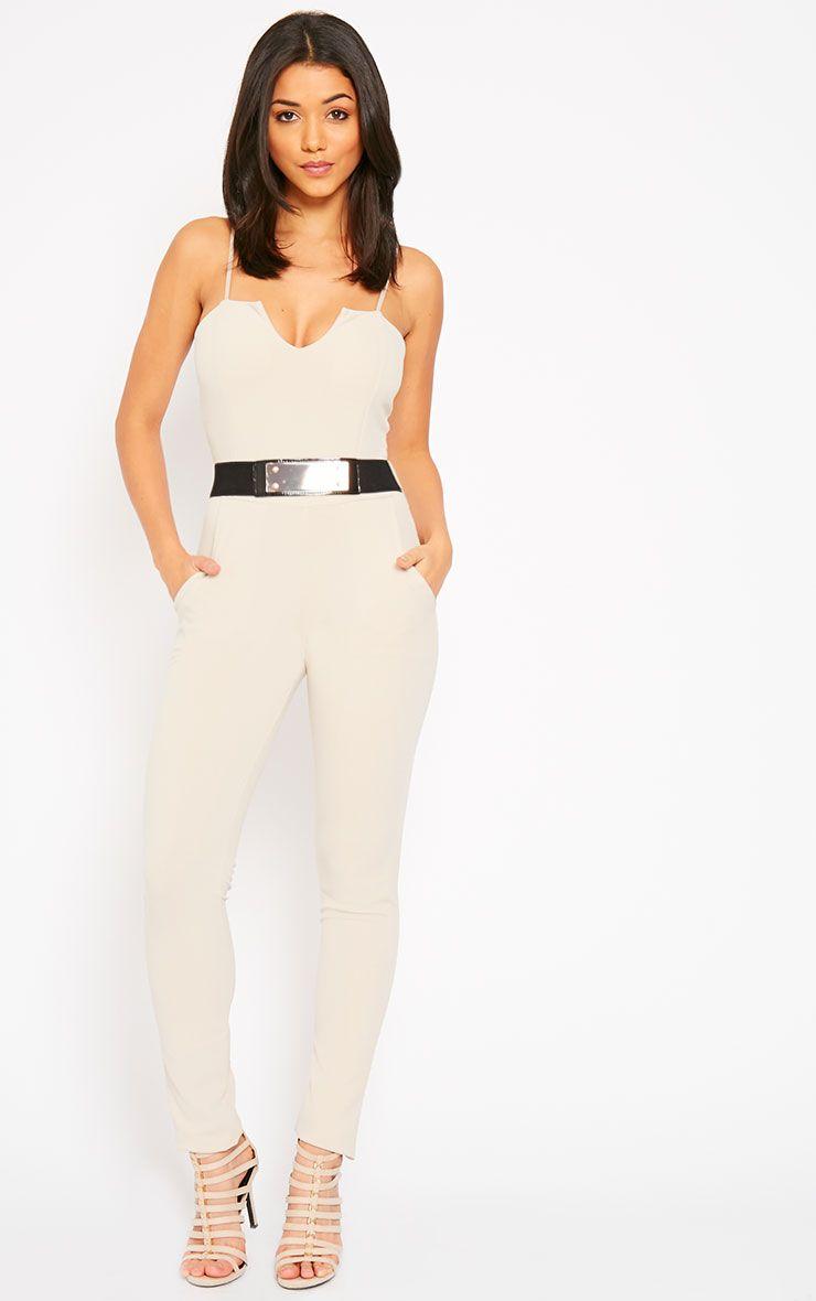 Leoni Stone Belted Jumpsuit 1