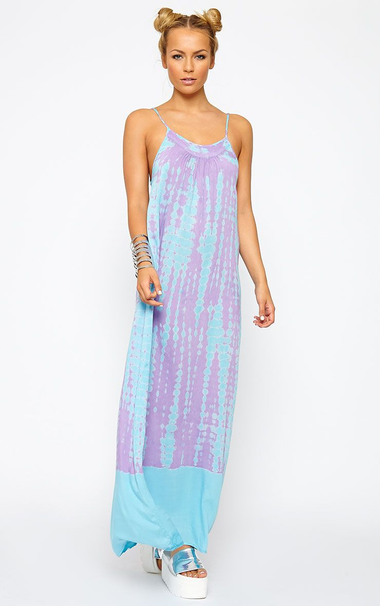 Zadie Purple Tie Dye Maxi Dress 1
