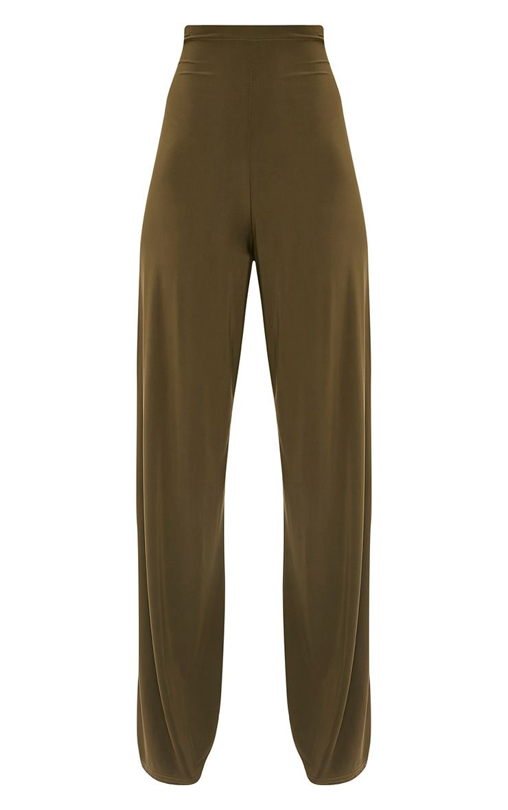 Jill Khaki Slinky Palazzo Trousers 3