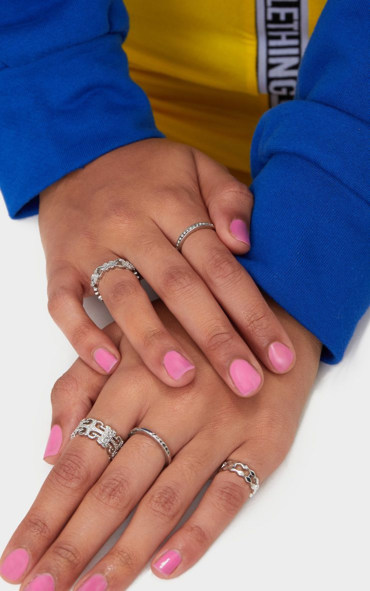 Silver Ring Five Pack