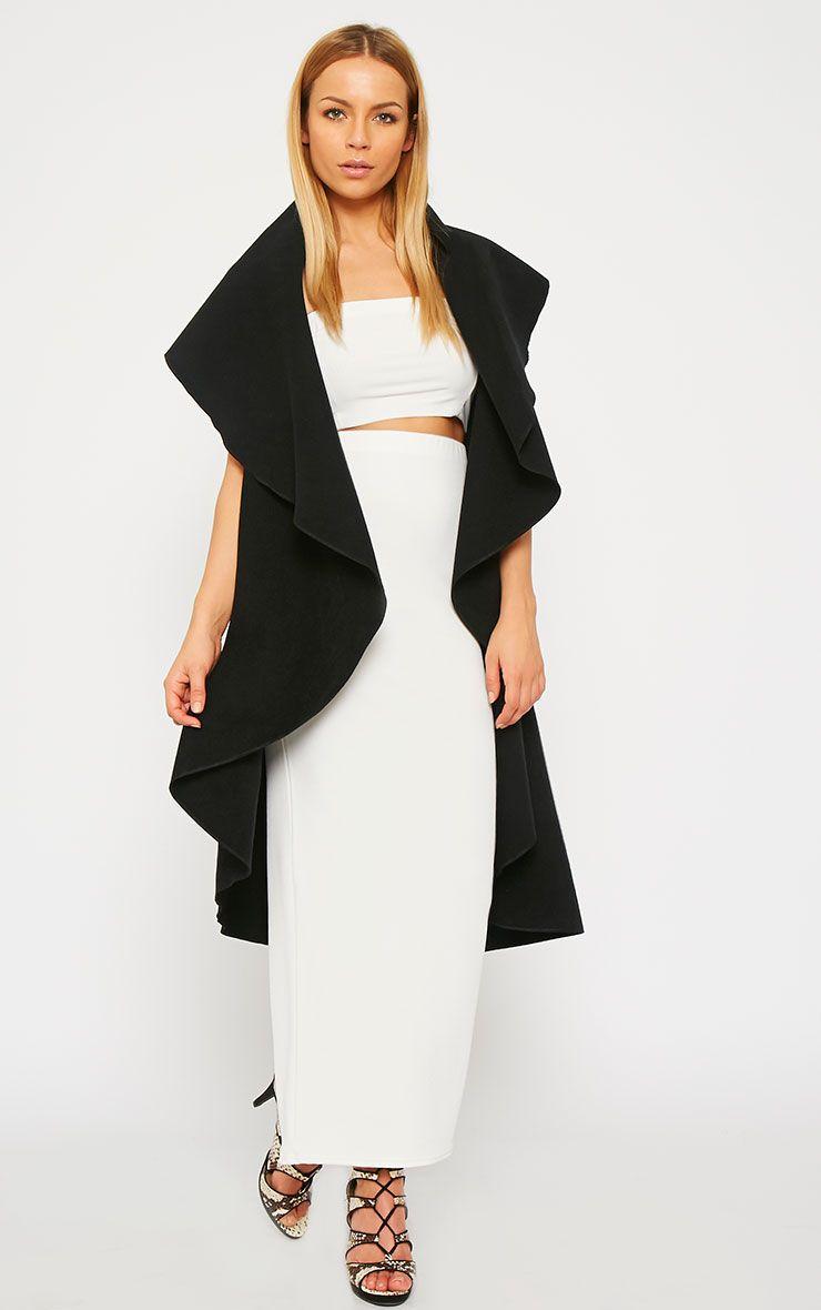 Vivian Black Waterfall Waistcoat 3