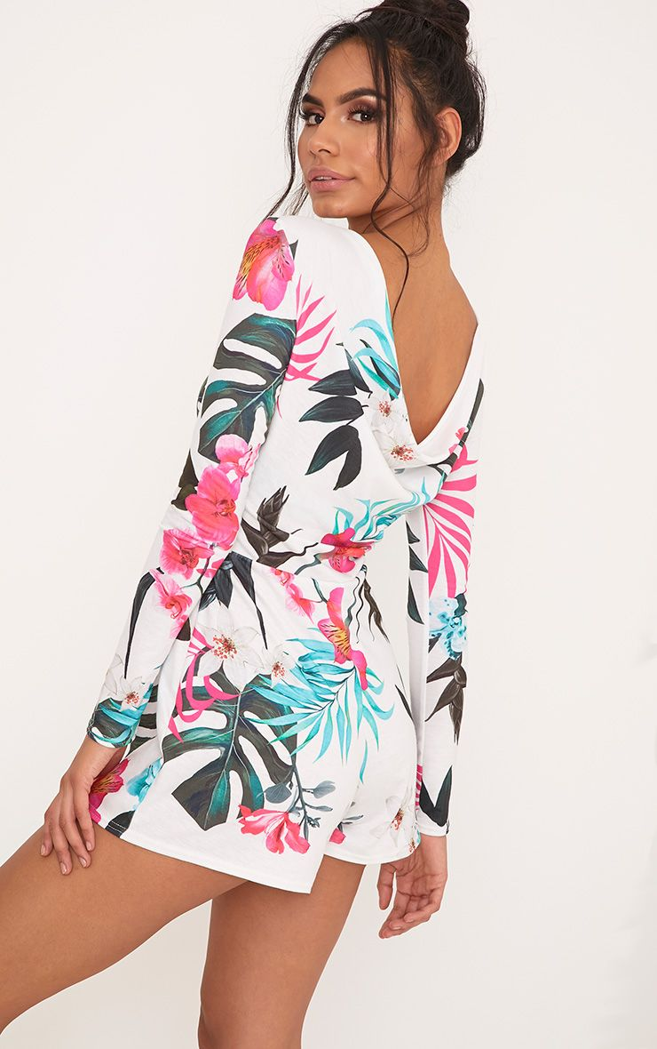 Noella Printed Scoop Back Playsuit