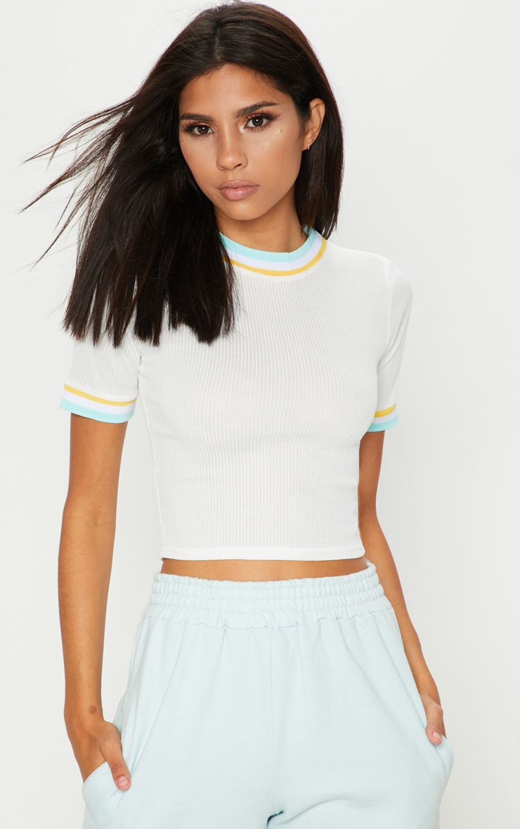 Excellent Sale Online PRETTYLITTLETHING Baby Rib Sport Trim T Shirt Free Shipping Top Quality Quality Free Shipping Low Price Free Shipping Shop Offer Clearance Release Dates ocxNFIwJKs