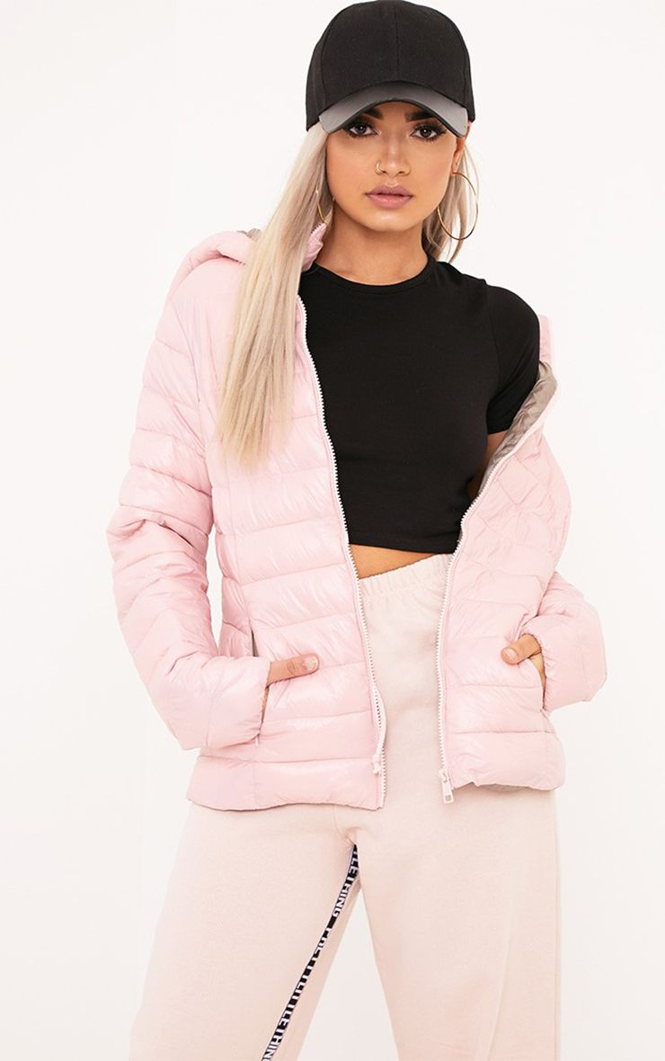 Abeliae Pink Puffer Coat