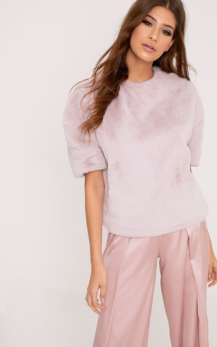 Daisi Dusty Pink Fluffy Sweater