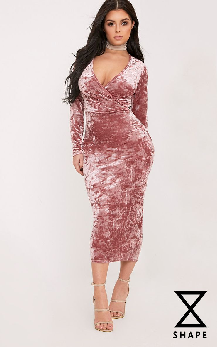 Shape Zoeanna Rose Wrap Front Midi Dress